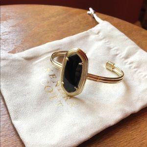 Kendra Scott Bracelet. Gold. Black stone.